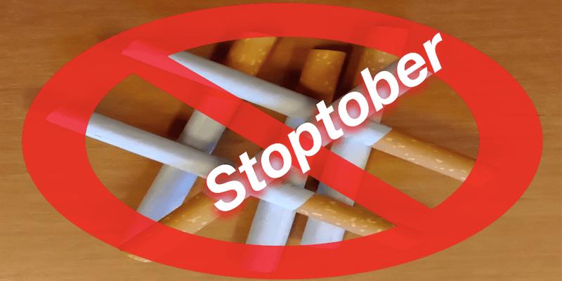 Stoptober. Quit drinking. Stop smoking